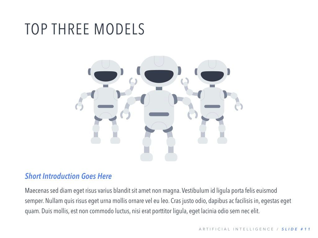Robot Showcase Keynote Template, Slide 12, 05799, Presentation Templates — PoweredTemplate.com