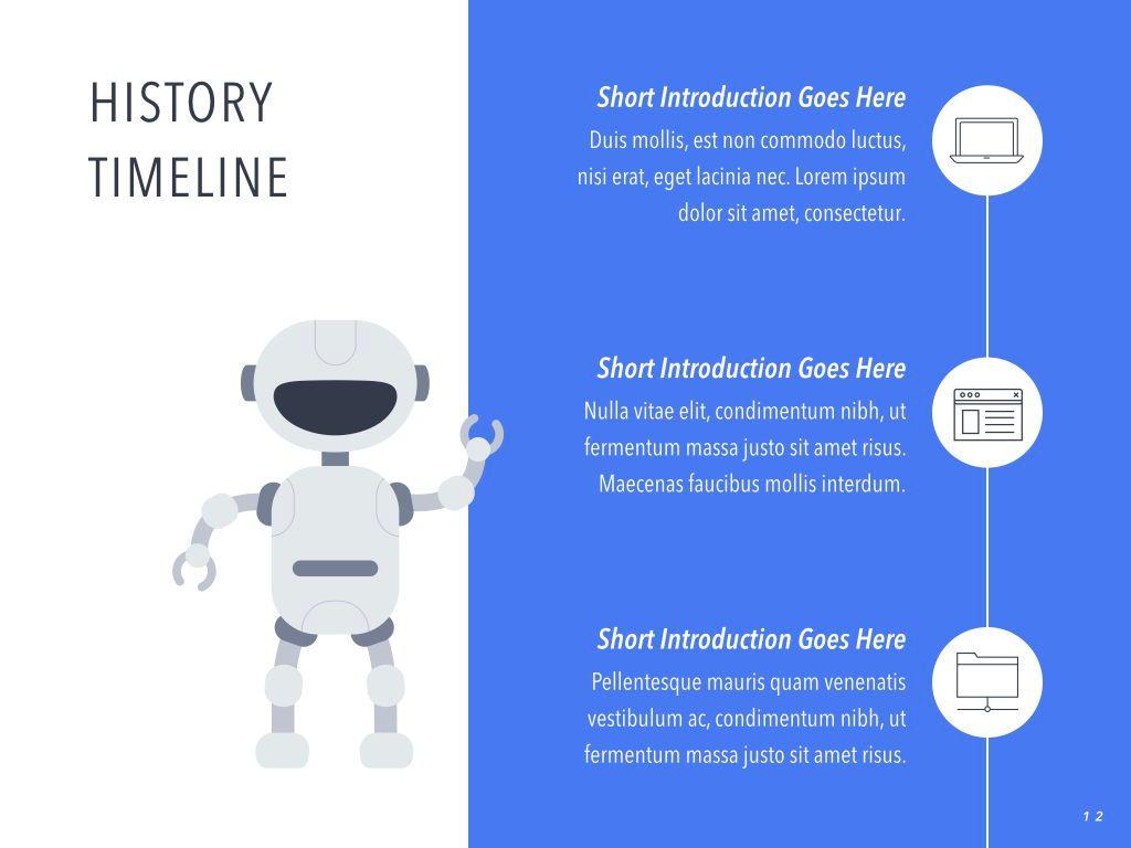 Robot Showcase Keynote Template, Slide 13, 05799, Presentation Templates — PoweredTemplate.com