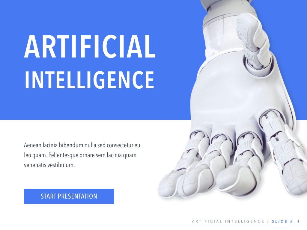 Robot Showcase Keynote Template, Slide 2, 05799, Presentation Templates — PoweredTemplate.com