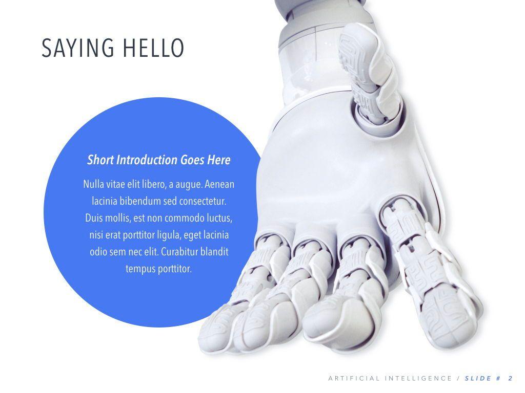 Robot Showcase Keynote Template, Slide 3, 05799, Presentation Templates — PoweredTemplate.com