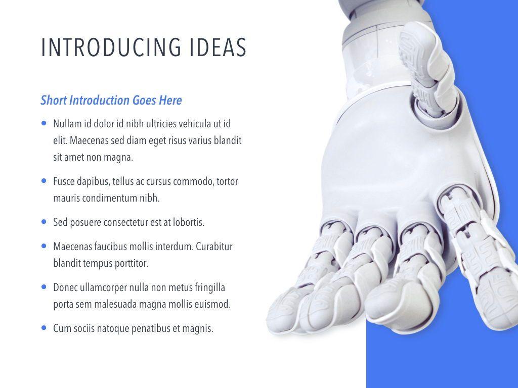Robot Showcase Keynote Template, Slide 4, 05799, Presentation Templates — PoweredTemplate.com