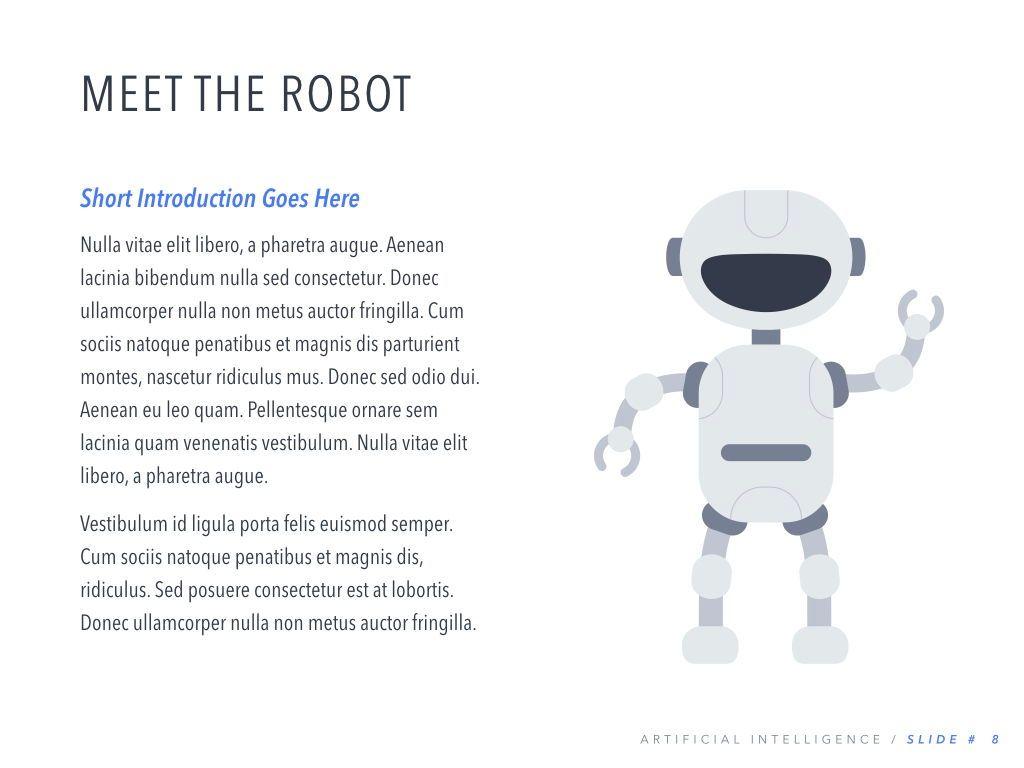 Robot Showcase Keynote Template, Slide 9, 05799, Presentation Templates — PoweredTemplate.com