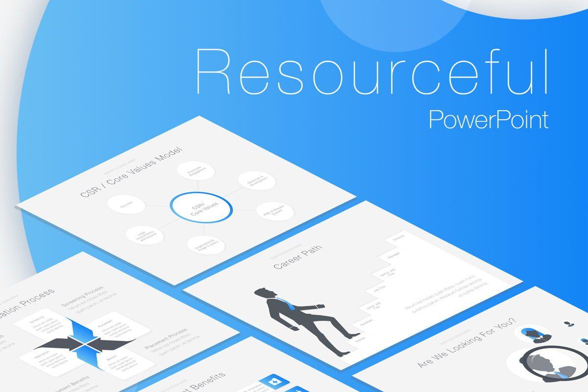 Resourceful PowerPoint Template, 05800, Presentation Templates — PoweredTemplate.com