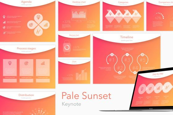 Presentation Templates: Pale Sunset Keynote Template #05801