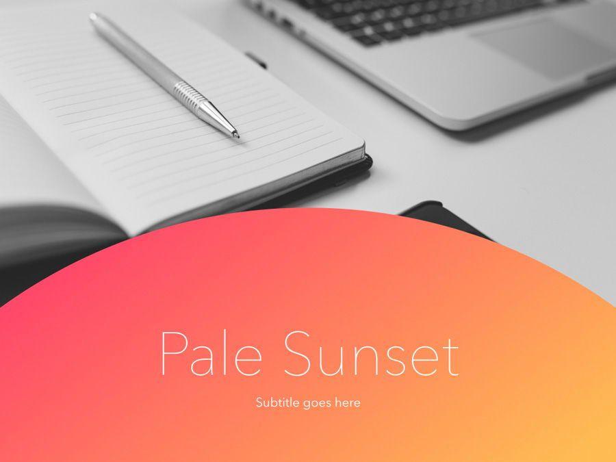 Pale Sunset Keynote Template, Slide 2, 05801, Presentation Templates — PoweredTemplate.com