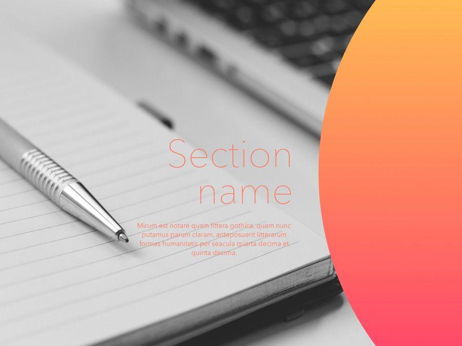 Pale Sunset Keynote Template, Slide 4, 05801, Presentation Templates — PoweredTemplate.com