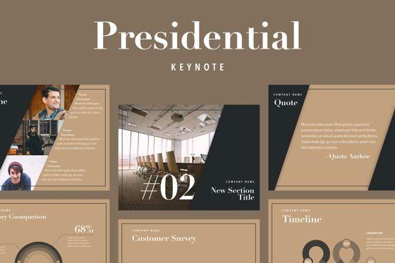 Presentation Templates: Presidential Keynote Template #05802