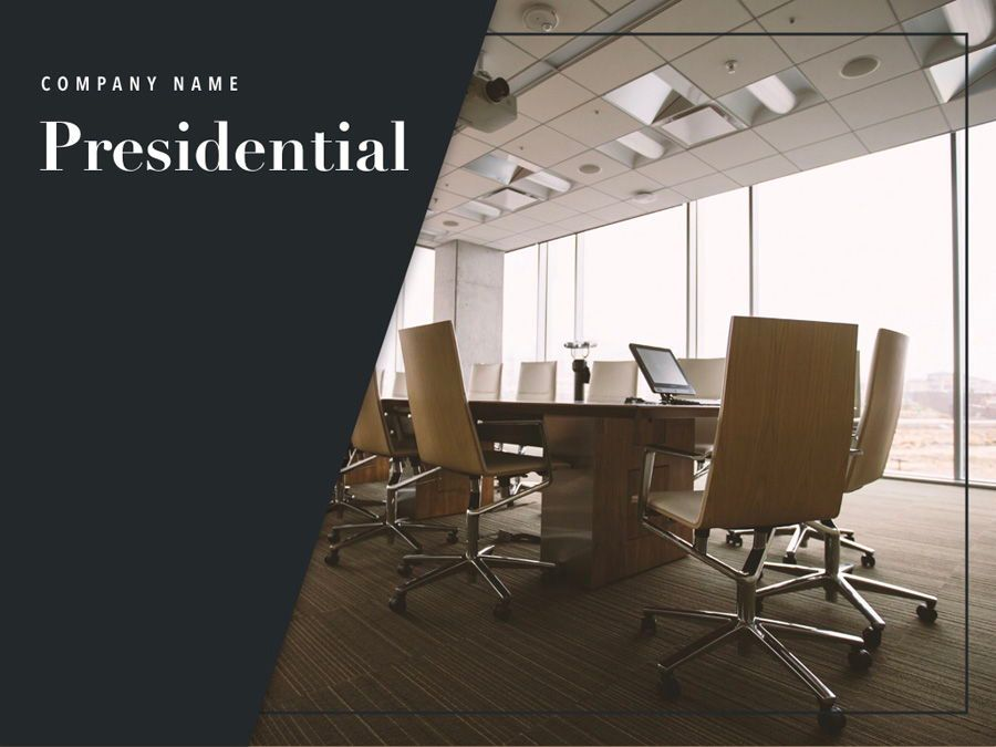 Presidential Keynote Template, Slide 2, 05802, Presentation Templates — PoweredTemplate.com