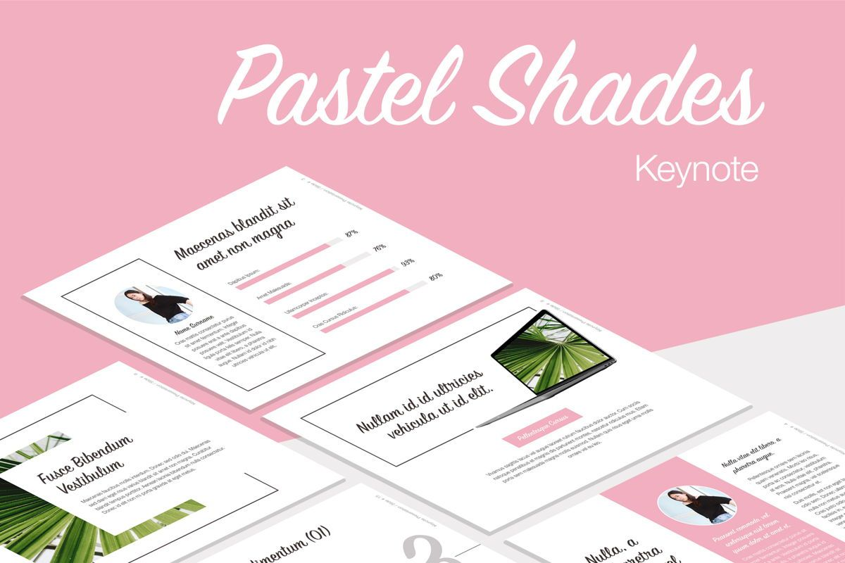 Pastel Shades Keynote Template, 05803, Presentation Templates — PoweredTemplate.com