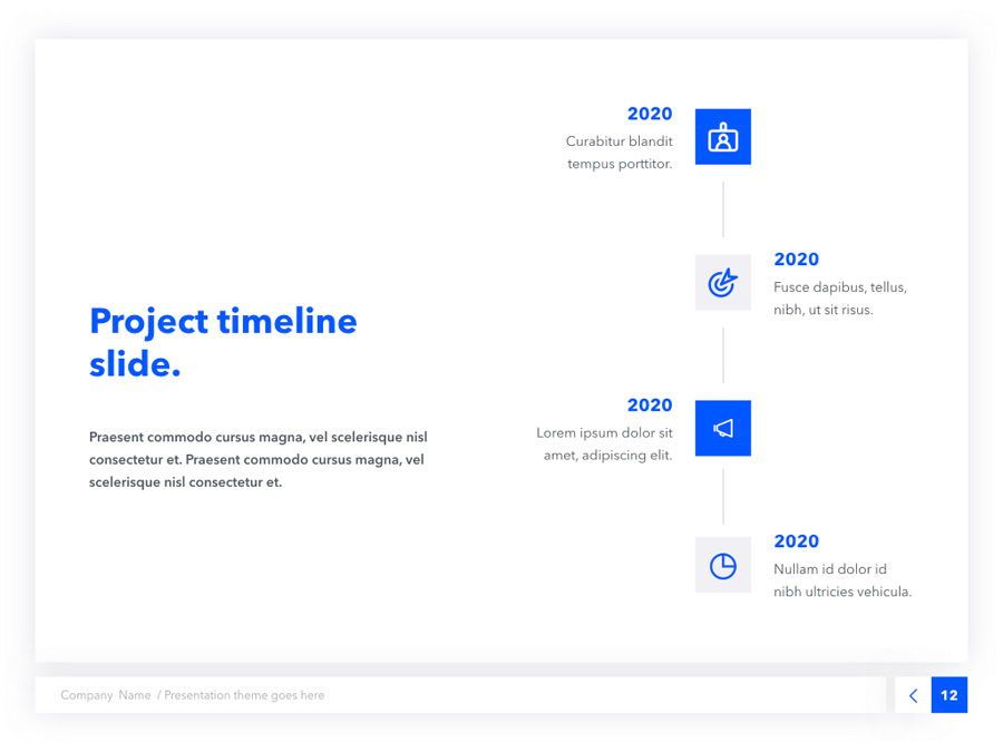 Prime Blue Keynote Template, Slide 13, 05804, Presentation Templates — PoweredTemplate.com