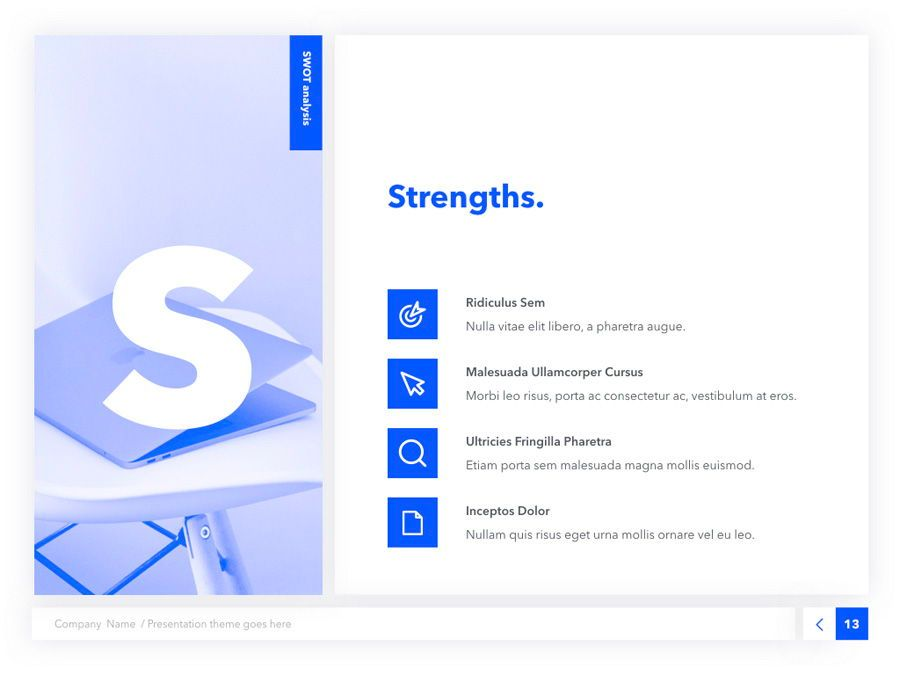 Prime Blue Keynote Template, Slide 14, 05804, Presentation Templates — PoweredTemplate.com