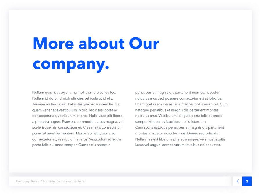 Prime Blue Keynote Template, Slide 4, 05804, Presentation Templates — PoweredTemplate.com
