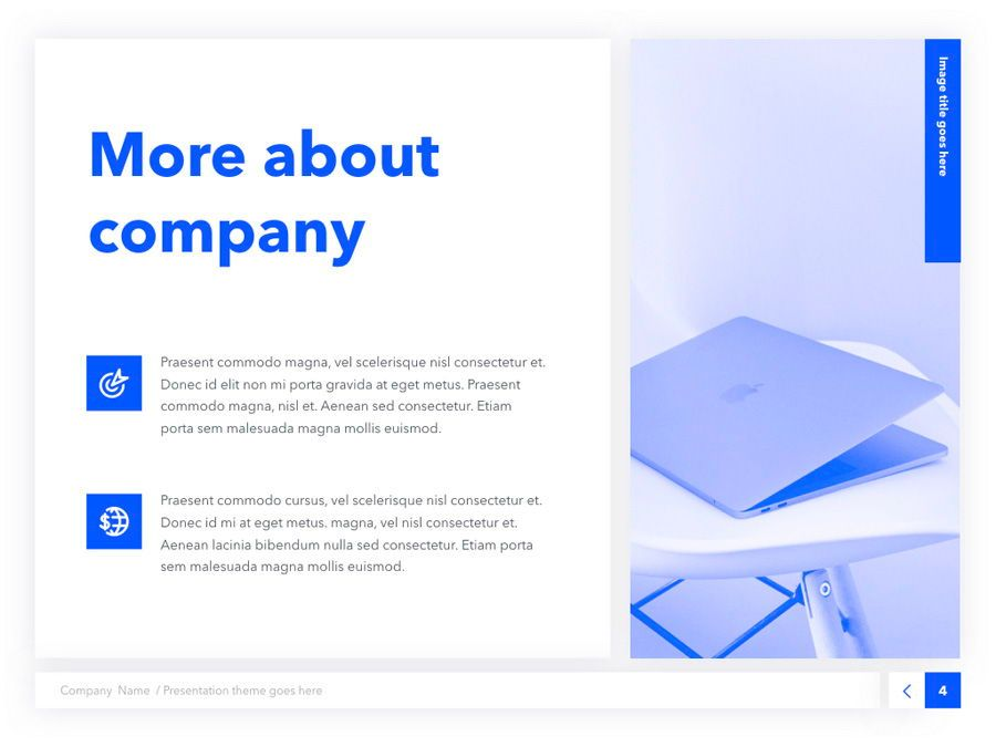 Prime Blue Keynote Template, Slide 5, 05804, Presentation Templates — PoweredTemplate.com