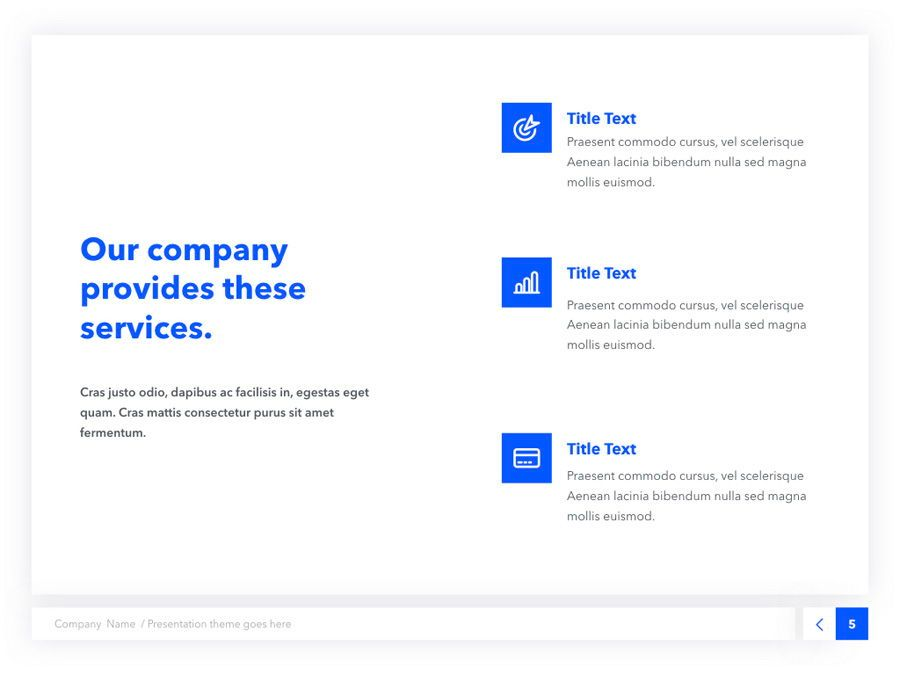 Prime Blue Keynote Template, Slide 6, 05804, Presentation Templates — PoweredTemplate.com