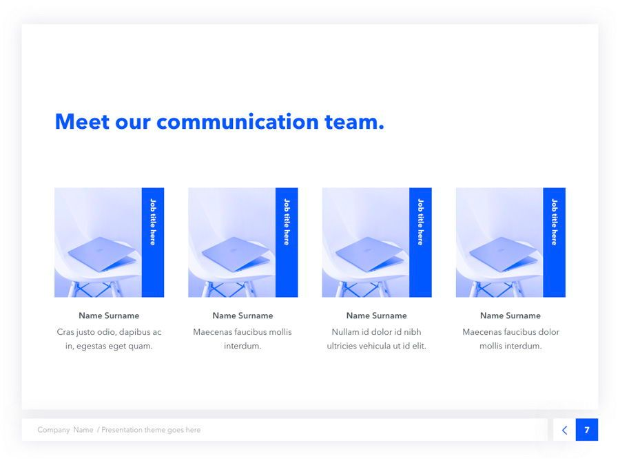 Prime Blue Keynote Template, Slide 8, 05804, Presentation Templates — PoweredTemplate.com