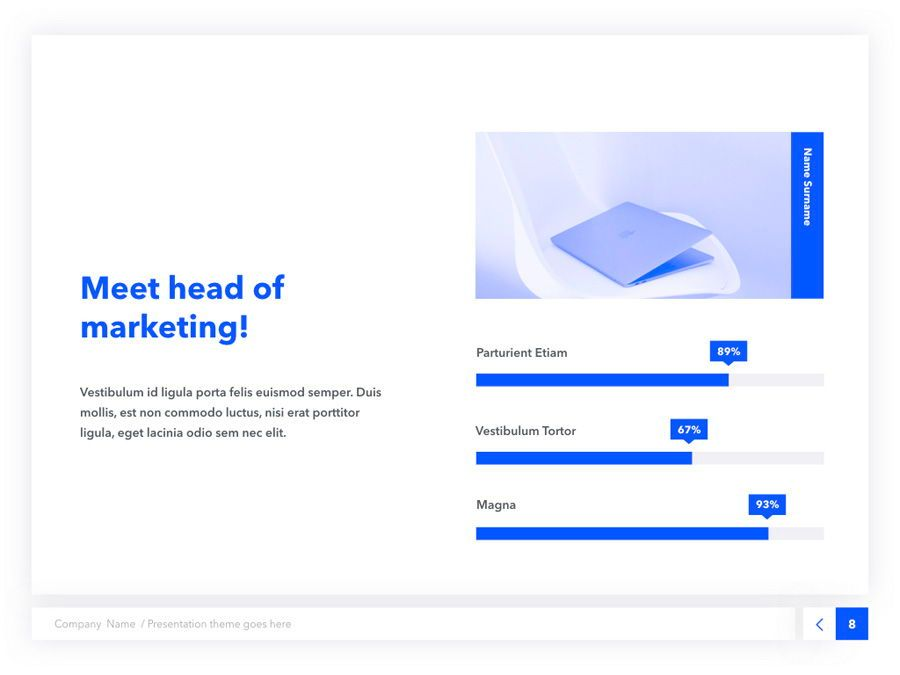 Prime Blue Keynote Template, Slide 9, 05804, Presentation Templates — PoweredTemplate.com