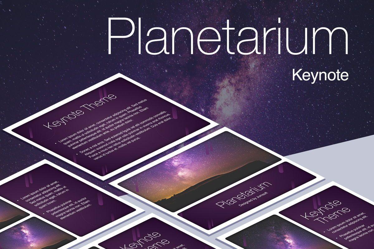 Planetarium Keynote Template, 05805, Presentation Templates — PoweredTemplate.com