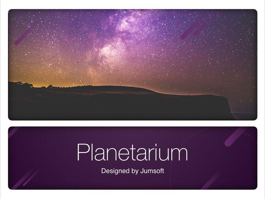 Planetarium Keynote Template, Slide 13, 05805, Presentation Templates — PoweredTemplate.com