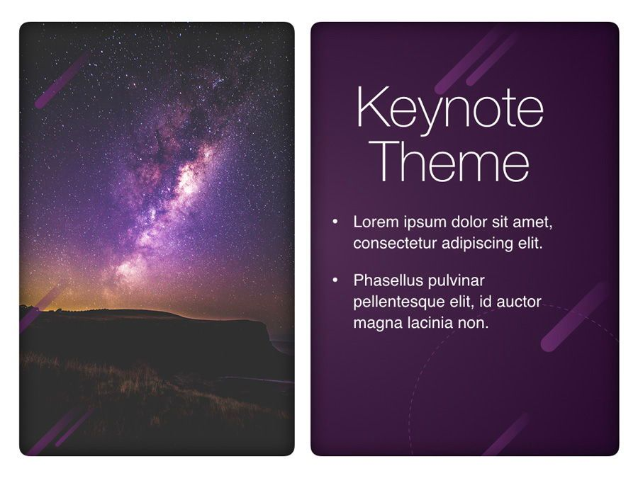 Planetarium Keynote Template, Slide 18, 05805, Presentation Templates — PoweredTemplate.com
