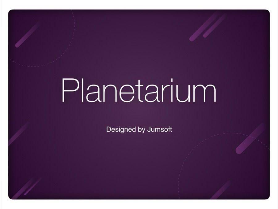 Planetarium Keynote Template, Slide 2, 05805, Presentation Templates — PoweredTemplate.com