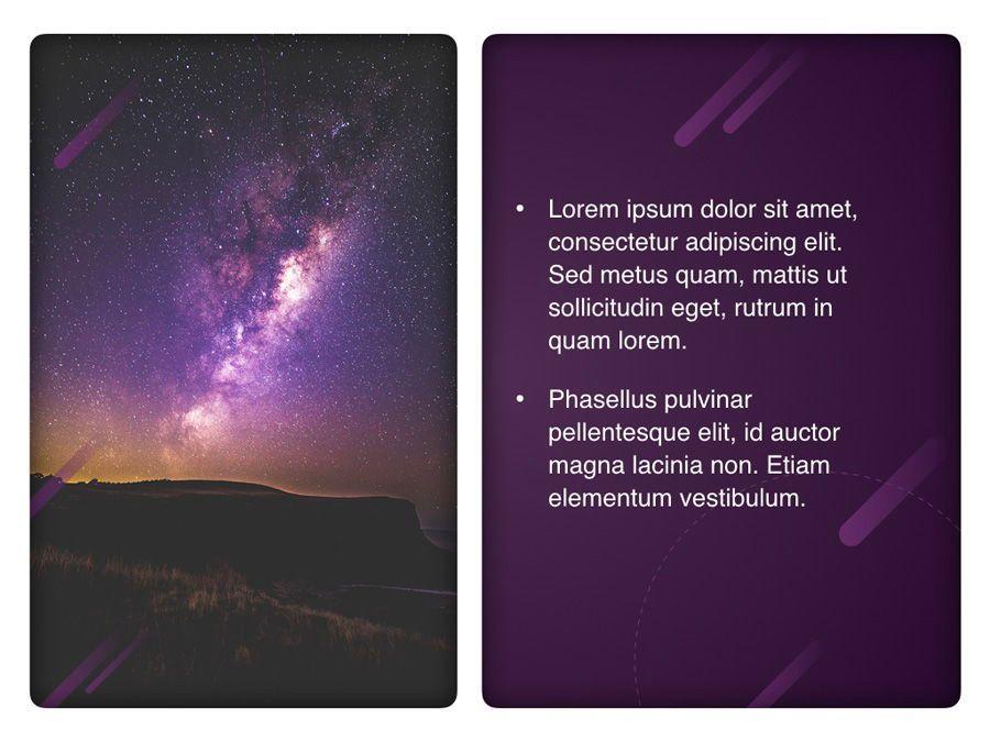 Planetarium Keynote Template, Slide 22, 05805, Presentation Templates — PoweredTemplate.com