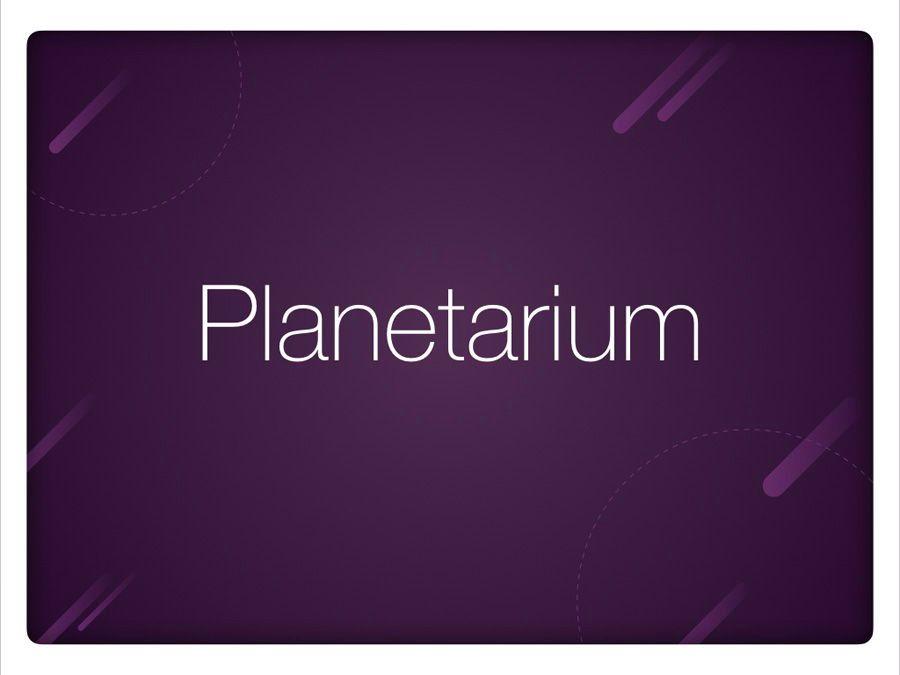 Planetarium Keynote Template, Slide 9, 05805, Presentation Templates — PoweredTemplate.com