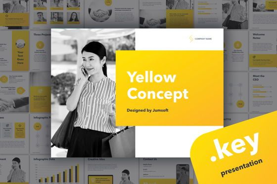 Presentation Templates: Yellow Concept Keynote Template #05808