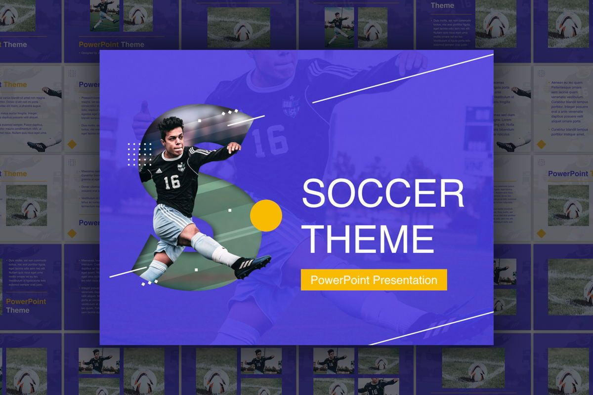 Soccer PowerPoint Template, 05809, Presentation Templates — PoweredTemplate.com