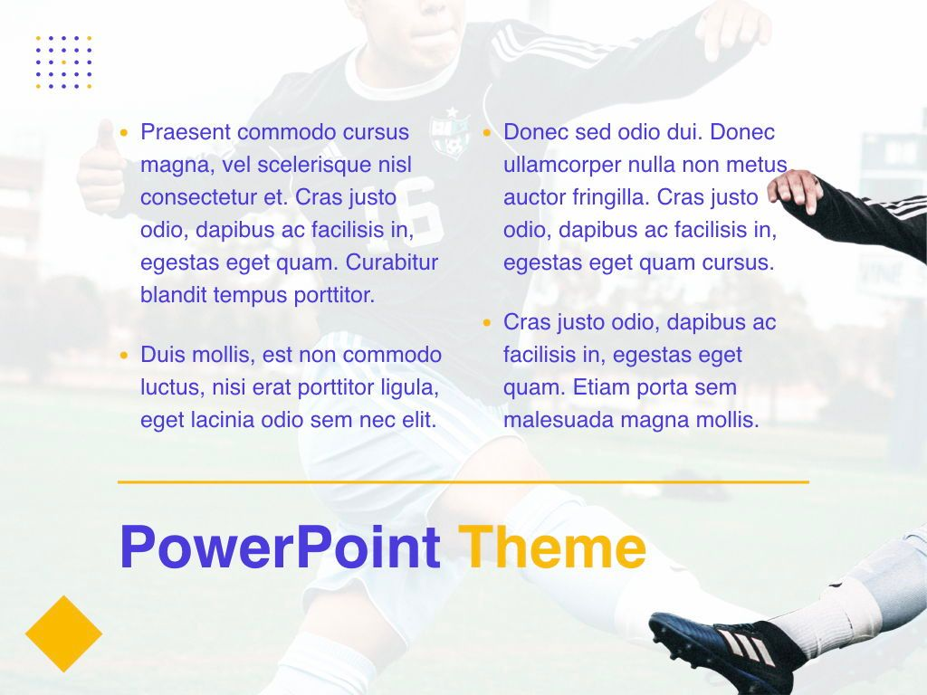 Soccer PowerPoint Template, Slide 12, 05809, Presentation Templates — PoweredTemplate.com