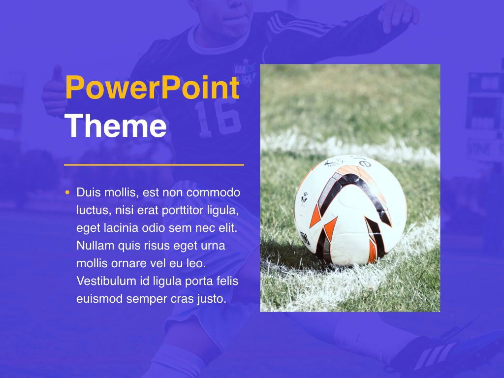 Soccer PowerPoint Template, Slide 17, 05809, Presentation Templates — PoweredTemplate.com