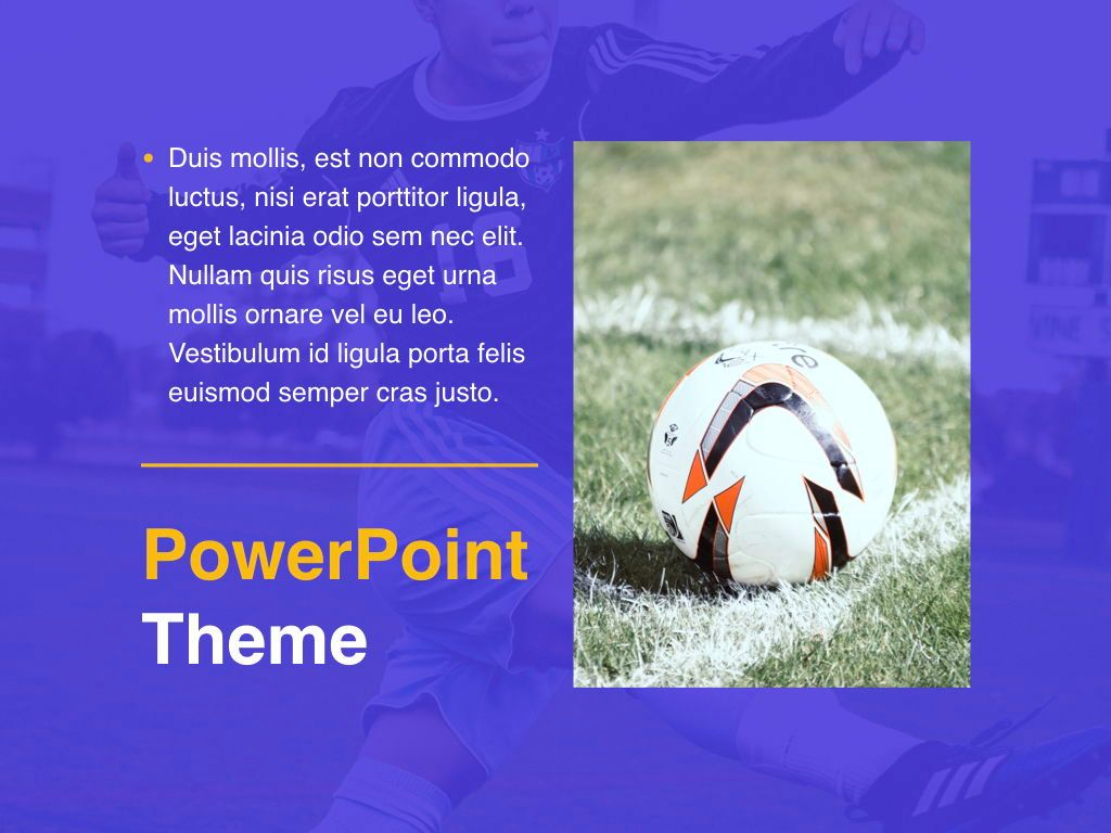 Soccer PowerPoint Template, Slide 19, 05809, Presentation Templates — PoweredTemplate.com
