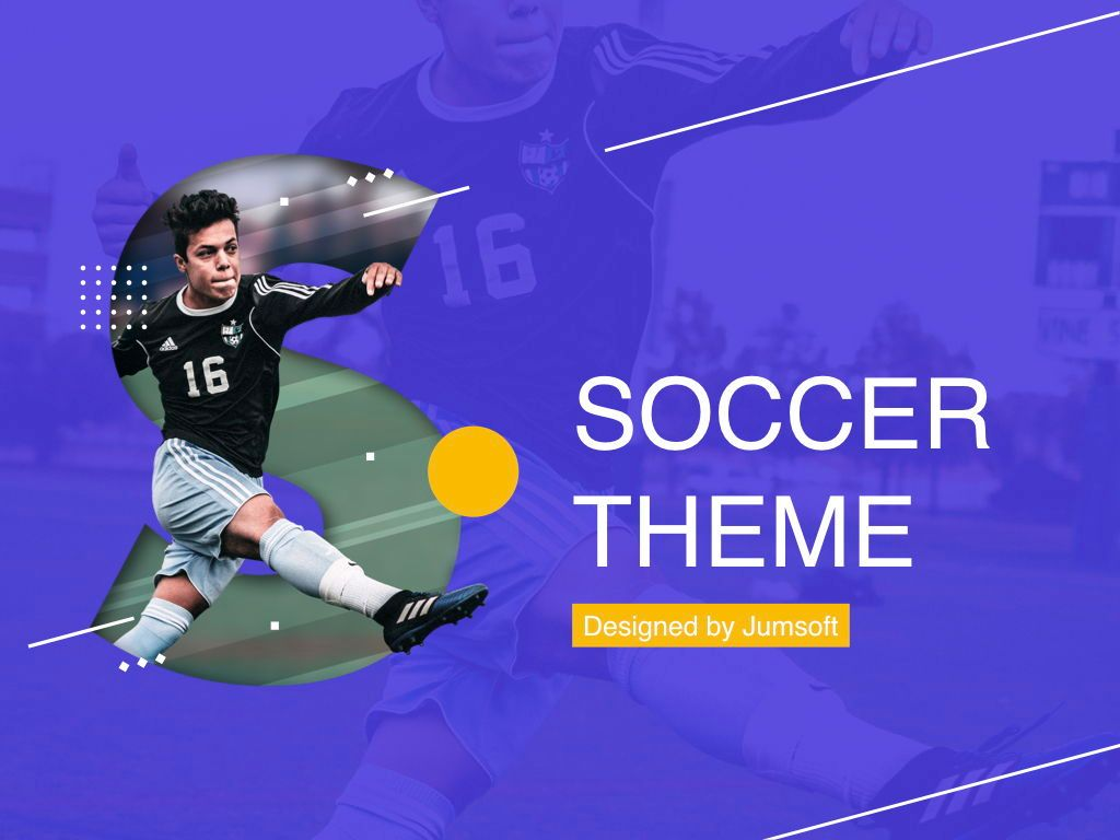 Soccer PowerPoint Template, Slide 2, 05809, Presentation Templates — PoweredTemplate.com