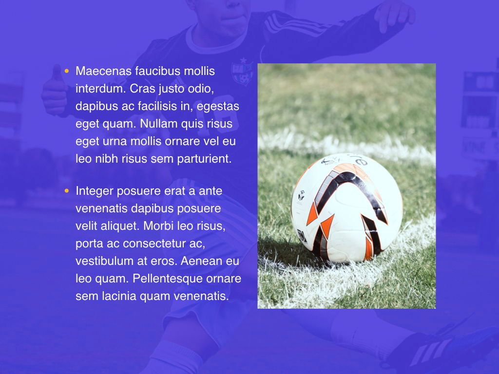 Soccer PowerPoint Template, Slide 21, 05809, Presentation Templates — PoweredTemplate.com