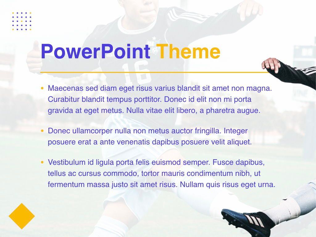 Soccer PowerPoint Template, Slide 3, 05809, Presentation Templates — PoweredTemplate.com