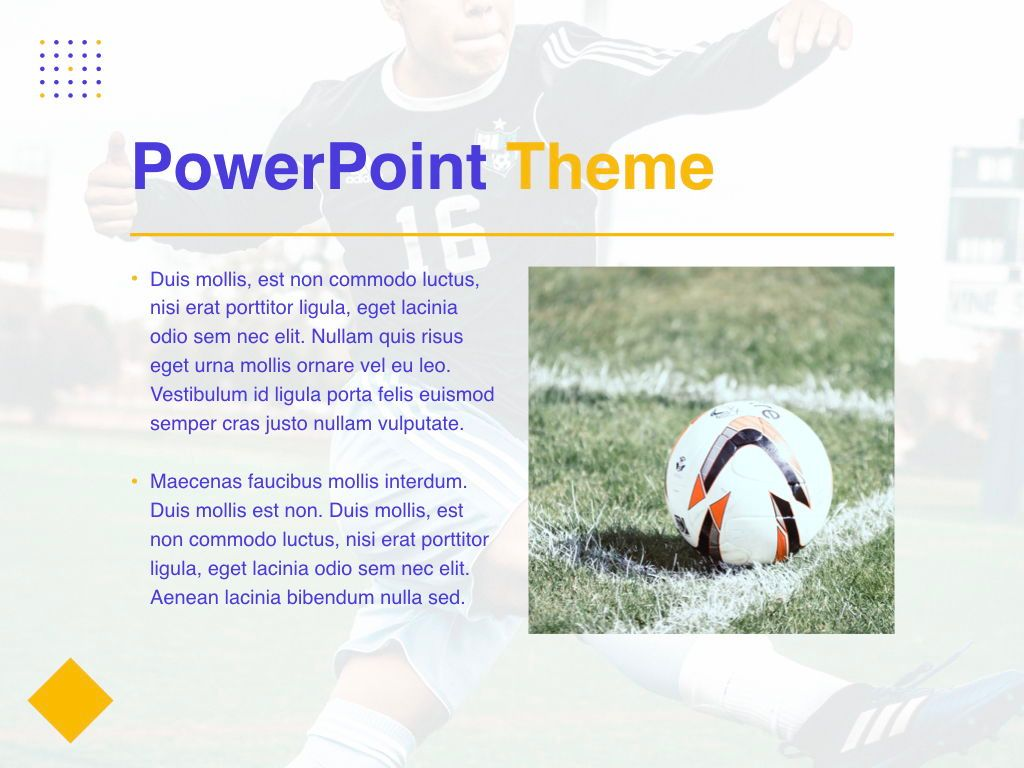 Soccer PowerPoint Template, Slide 30, 05809, Presentation Templates — PoweredTemplate.com