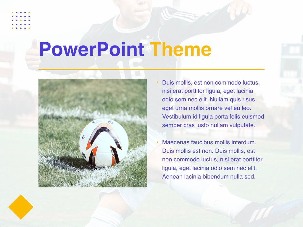 Soccer PowerPoint Template, Slide 31, 05809, Presentation Templates — PoweredTemplate.com