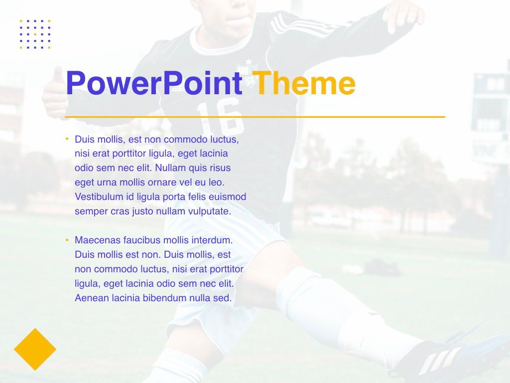 Soccer PowerPoint Template, Slide 32, 05809, Presentation Templates — PoweredTemplate.com
