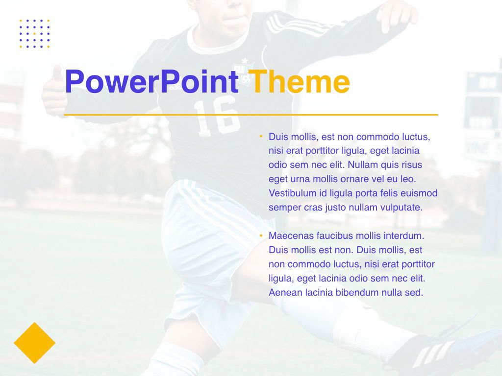 Soccer PowerPoint Template, Slide 33, 05809, Presentation Templates — PoweredTemplate.com