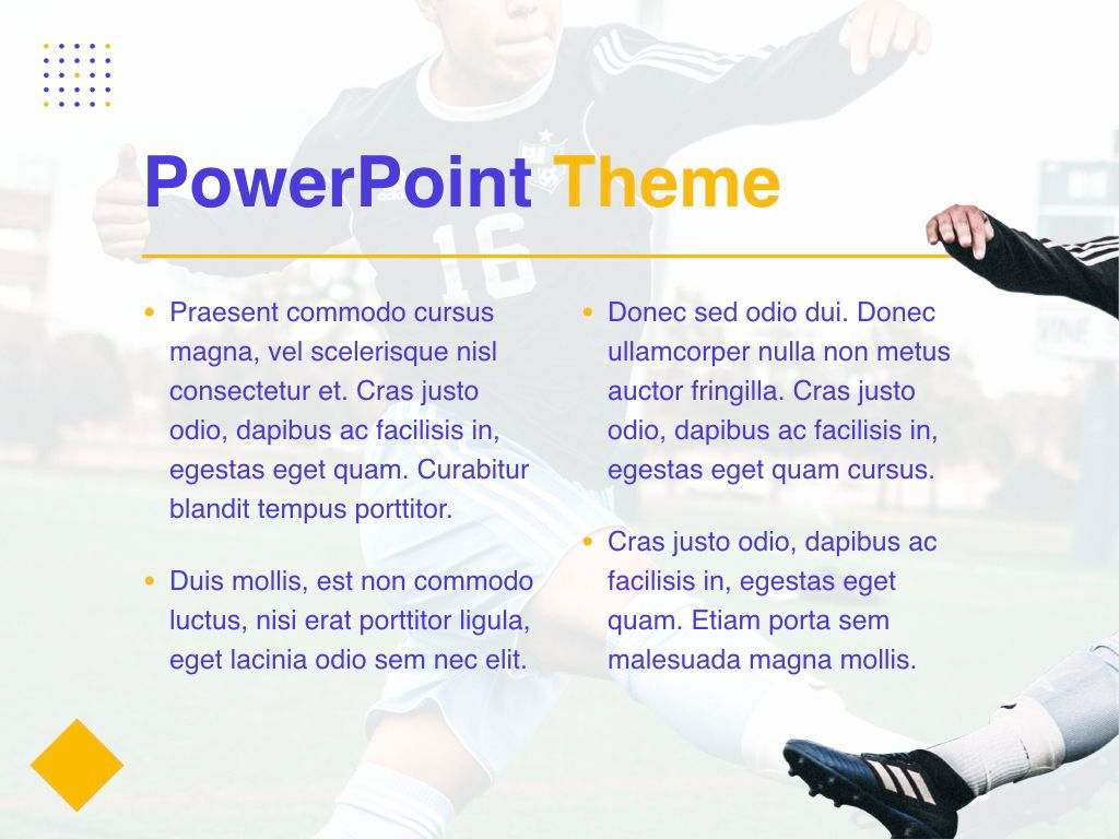 Soccer PowerPoint Template, Slide 4, 05809, Presentation Templates — PoweredTemplate.com