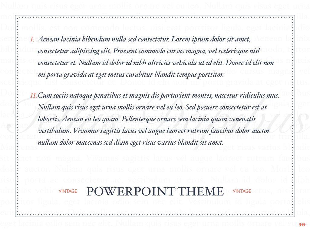 Vintage Album PowerPoint Template, Slide 11, 05810, Presentation Templates — PoweredTemplate.com