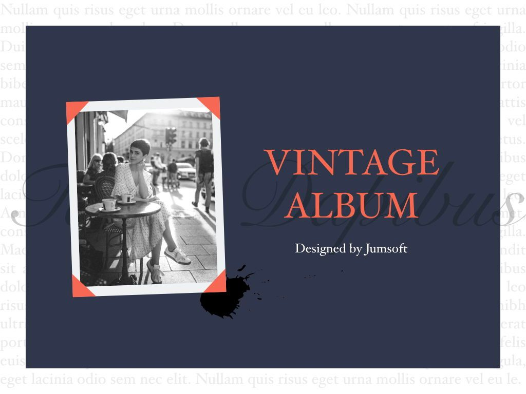 Vintage Album PowerPoint Template, Slide 9, 05810, Presentation Templates — PoweredTemplate.com