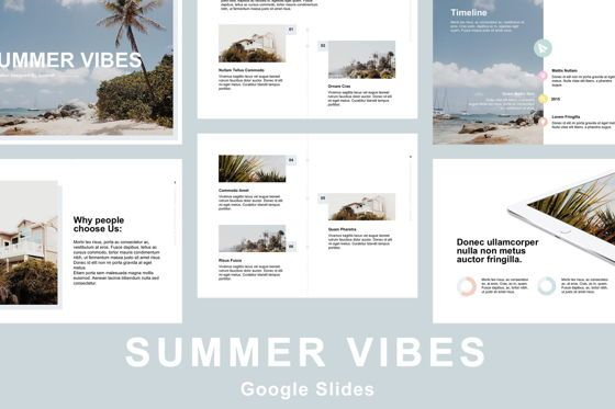 Presentation Templates: Summer Vibes Google Slides Template #05811