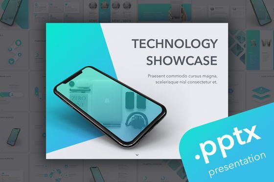 Presentation Templates: Technology Showcase PowerPoint Template #05816
