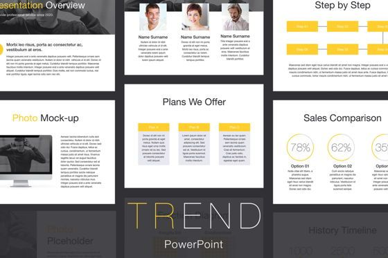 Presentation Templates: Trend PowerPoint Template #05817