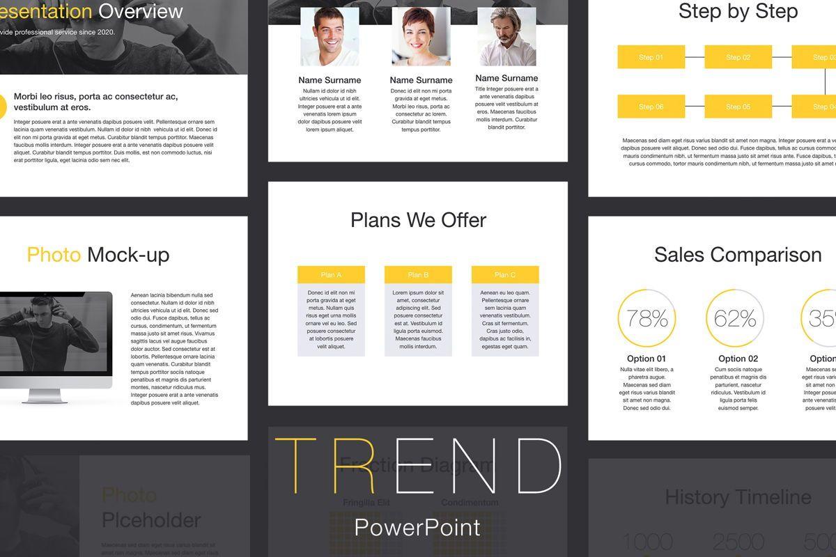 Trend PowerPoint Template, 05817, Presentation Templates — PoweredTemplate.com