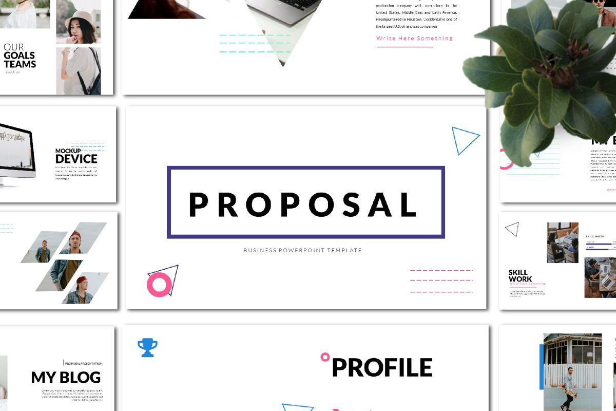 Proposal Business Googleslide Template, 05823, Presentation Templates — PoweredTemplate.com