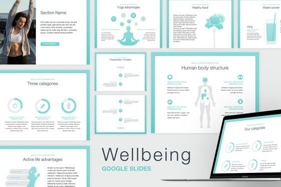 Infographics: Wellbeing Google Slides Template #05824