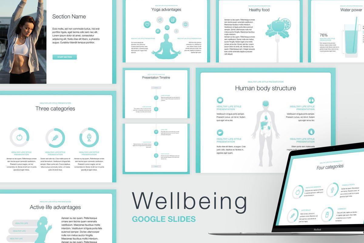 Wellbeing Google Slides Template, 05824, Infographics — PoweredTemplate.com