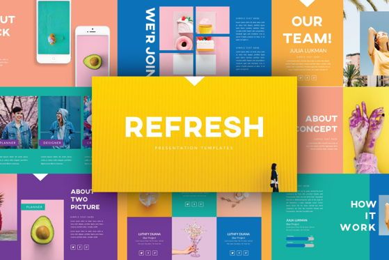 Presentation Templates: Refresh Business Keynote Template #05827
