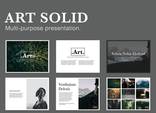 Presentation Templates: Art Solid Powerpoint Presentation Template #05829